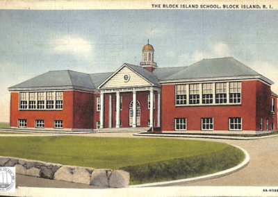 Post Card Block Island School 1